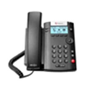 Polycom VVX 201 - Telefone Empresarial IP, 2 linhas, Skype for Business, PoE